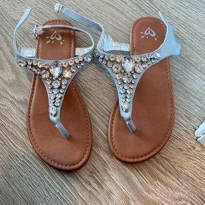 Girls Jewelled Sandals